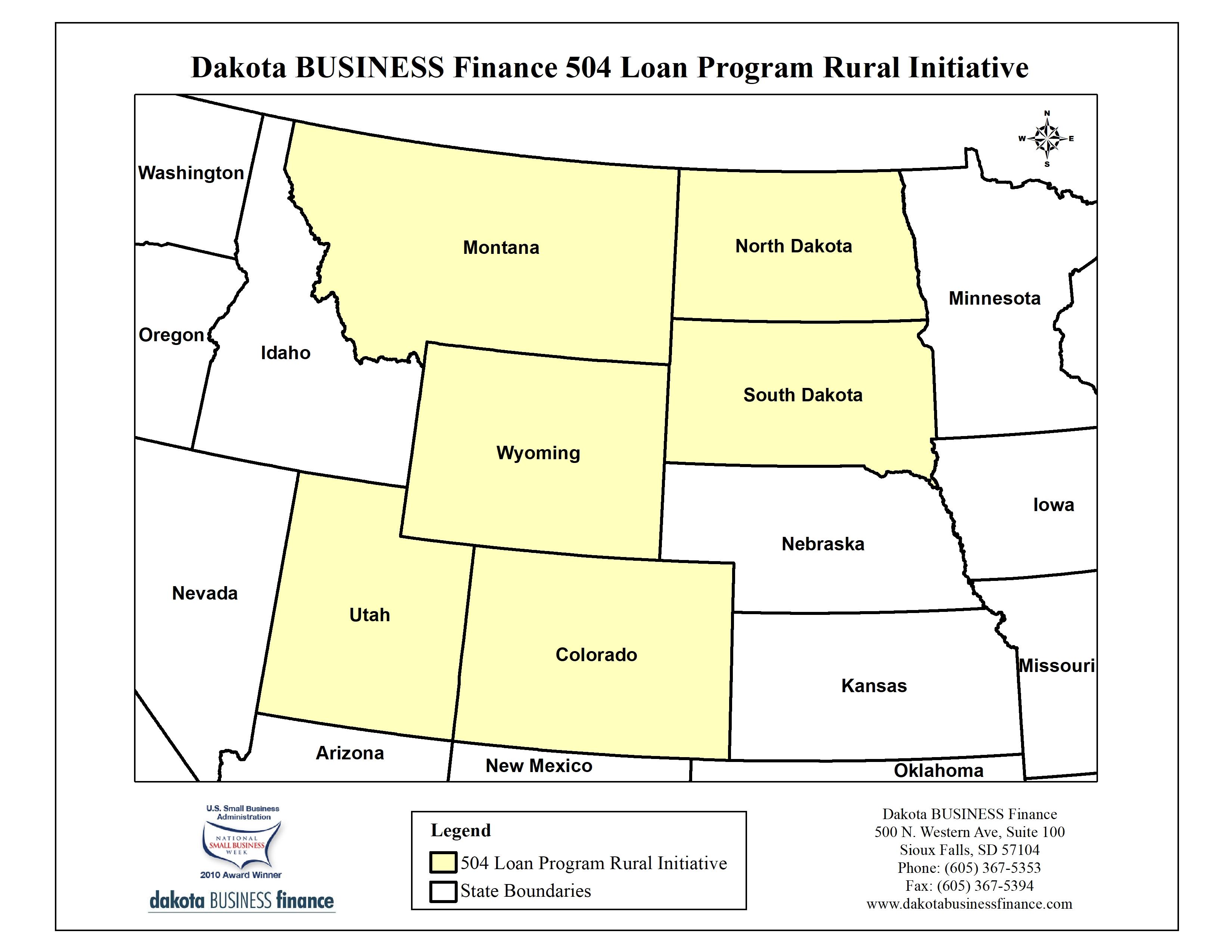 DBF Rural Initiative program coverage area